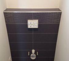 faience terminee dans les wc