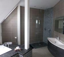 Photos et idées salle de bain parement brique / pierre (104 photos)