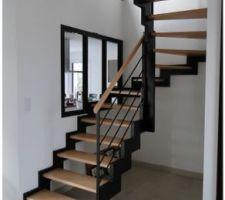 Modèle de notre futur escalier (en 1/4 tournant pour nous)