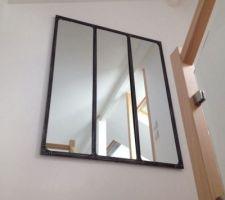 Miroir Maison du monde (vu de l'escalier)