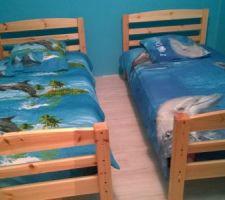 chambre des filles theme dauphin