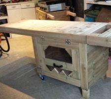 Confection d'un meuble extérieur pour plancha à gaz
