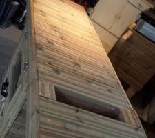 confection d un meuble exterieur pour plancha a gaz