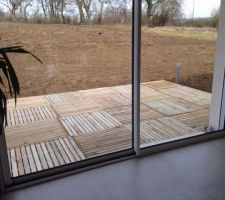 terrasse provisoire dalles de 1m 1m