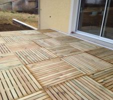 Terrasse provisoire dalles de 1m*1m
