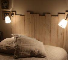 tete de lit en bois de palettes