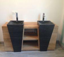 meuble de salle de bain apres une installation compliquee