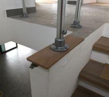 Mur cassé à la pose du garde corps sur la trémie de l'escalier