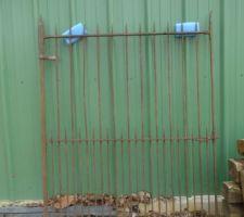 portillon en rab qui servira pour la deco dans jardin