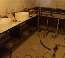 fabrication meubles de salle de bain