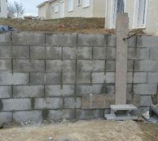 mur de soutenement arriere