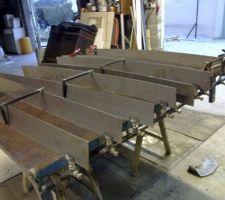 Fabrication de plusieurs fer anti-écartement