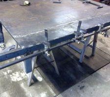 Fabrication et éssai des supports des toles latérale