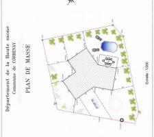 plan terrain avec implantation de la maison