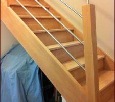 escalier brut