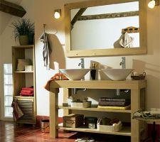 meubles sdb;colonne double vasques miroir