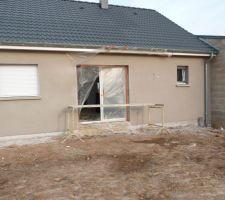 Principal Parex Lanko G30 Gris Souris, Et contour de fenêtre   garage   baie vitrée: Parex Lanko G50 Gris cendre