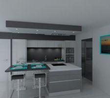 simulation 3 D de notre cuisine Arthur Bonnet