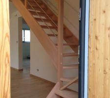 l escalier est pose prochaine etape vitrification