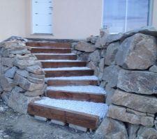 et voila un escalier fait maison en une journee