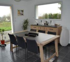 Nouvelle maison nouveau salon : table et buffet Mr Meuble et chaises Alinéa