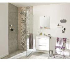 Achat carrelage pour la salle de bains: carrelage seattle gris de leroy merlin 9, 90 ? le m2.