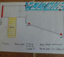le plan de la terrasse avec la maison