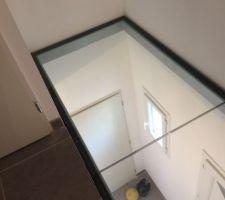 Plancher de verre et garde corps en verre