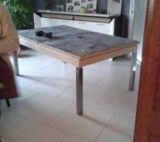 table en cors de fabrication