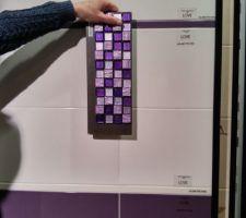 Choix faience et mosaïque en salle d'eau