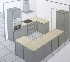 devis 2 : sans frigo américain et avec meuble d'angle