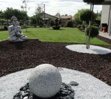 une partie du jardin type japonais