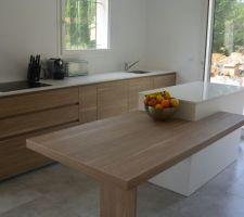 cuisine modulnova modele light rovere bruges et laque blanc mat