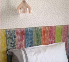 Tête de lit fait maison à Paris