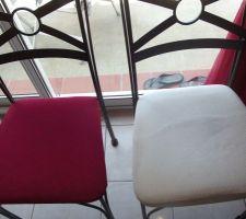 j ai refait mes chaises car le blanc etait un peu usage
