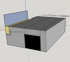 V1 : bastaing posé sur une équerre métallique, l?équerre est fixé sur un support isolé (STO ou autre). le garde-corps est fixé sur le bastaing.
