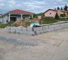 mur avec drainage