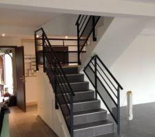 Rendu final escalier avec rambardes