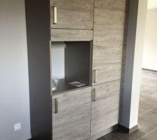 armoire colonne four et armoire tiroir a l anglaise