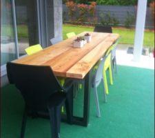 Première tentative pour notre table extérieure