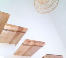 cage d'escalier déjà habillée