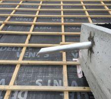 Évacuation  toit plat