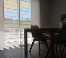Table ikea et chaises de chez maison du monde. Stores ikea