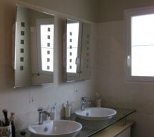 Installation de deux vasque meuble schmidt