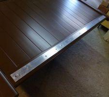 barre aluminium de 50 mm x 5 mm preparer le percage trous de 8 mm en fonction de ses fixations