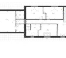 essai1 du plan étage avec maison sur les 2 limites séparatives