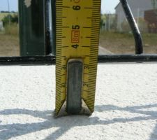 espace minimum entre grille et muret
