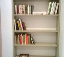 La bibliothèque lasurée gris