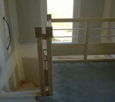 escalier vu de la mezzanine