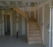 escalier vu du salon